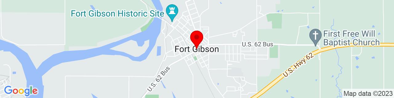 Google Map of 35.7975986, -95.25051730000001