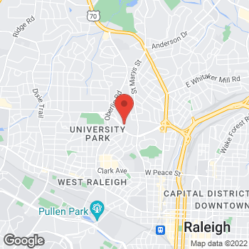 Map of State Employees' Credit Union at 1000 Wade Ave, Raleigh, NC 27605