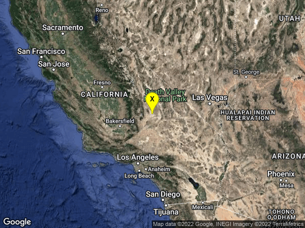 earthquake 20km W of Searles Valley, CA