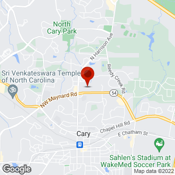 Map of Staples® Print & Marketing Services at 220 Grande Heights Dr, Cary, NC 27513
