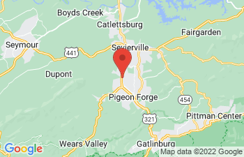 Map of Pigeon Forge