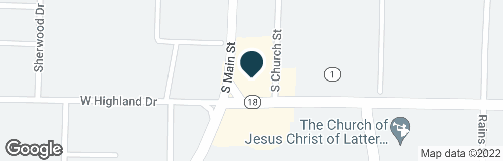 Google Map of108 E HIGHLAND DR