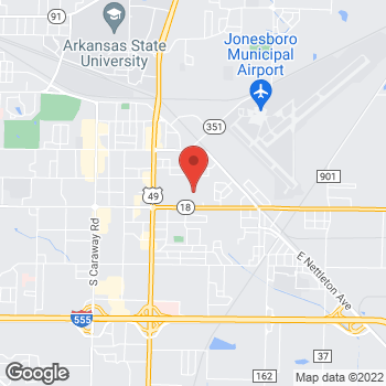 Map of Bed Bath & Beyond at 3000 East Highland Drive, Jonesboro, AR 72401