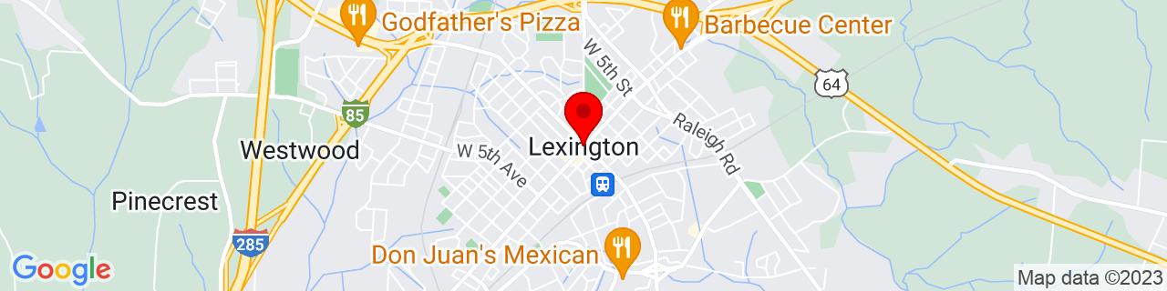 Google Map of 35.8240265, -80.2533838