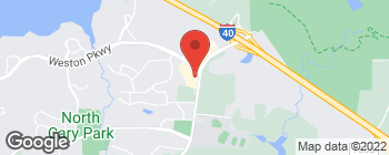 Map of 123 Weston Pkwy in Cary