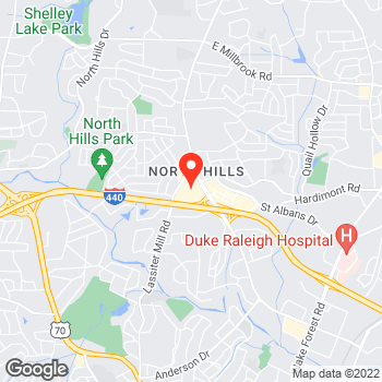 Map of Lou & Grey at 4151 Main at North Hills, Raleigh, NC 27609