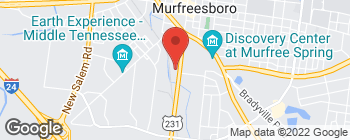 Map of 814 S Church St in Murfreesboro