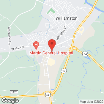 Map of State Employees' Credit Union at 1310 Washington St, Williamston, NC 27892