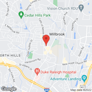 Map of State Employees' Credit Union at 1621 Pacific Dr, Raleigh, NC 27609