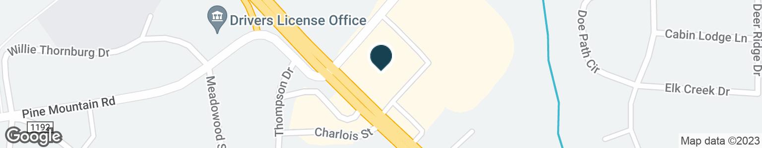 Google Map of3062 HICKORY BLVD