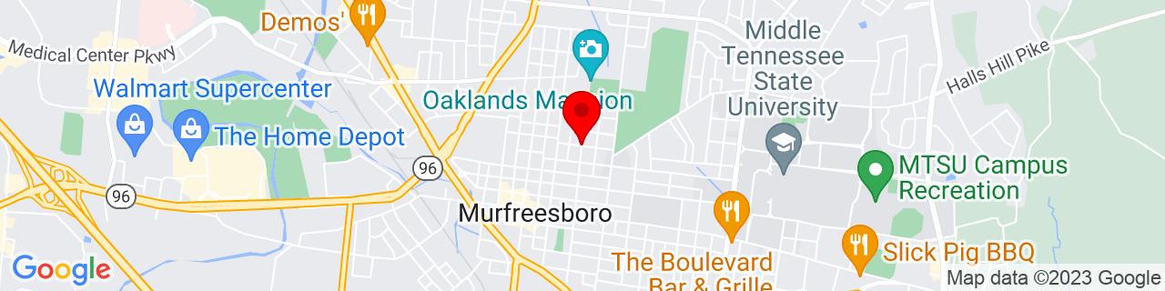 Google Map of 35.8507797, -86.3859006