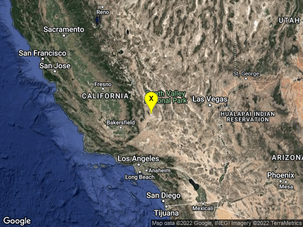 earthquake 21km ESE of Little Lake, CA