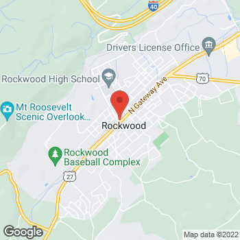 Map of Rite Aid at 103 North Gateway Avenue, Rockwood, TN 37854