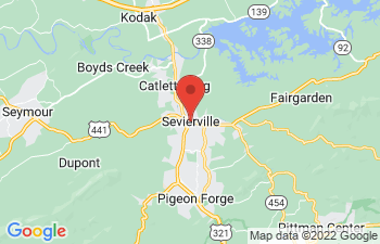 Map of Sevierville