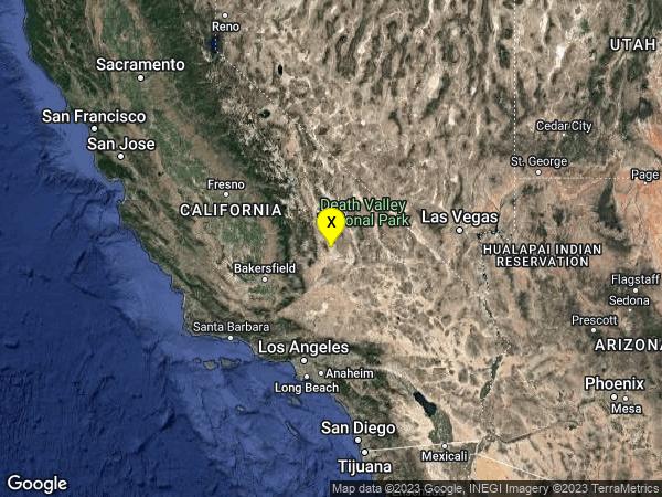 earthquake 19km ESE of Little Lake, CA