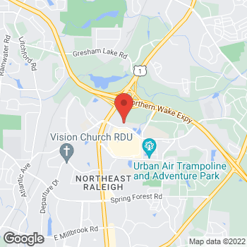 Map of State Employees' Credit Union at 6400 Town Center Drive, Raleigh, NC 27616