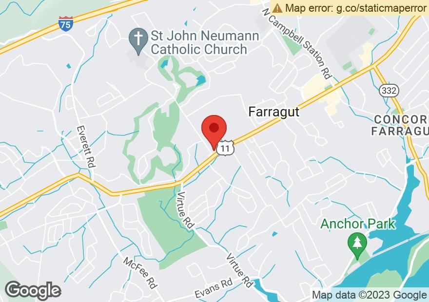Google Map of 11927 KINGSTON PIKE
