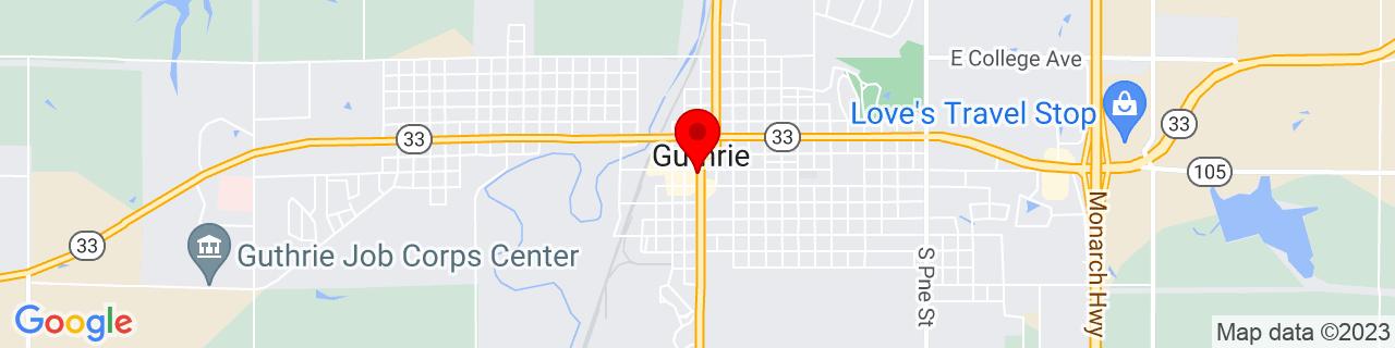 Google Map of 35.877757, -97.425557