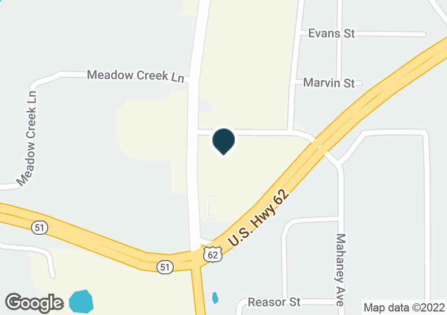 Google Map of1905 S MUSKOGEE AVE