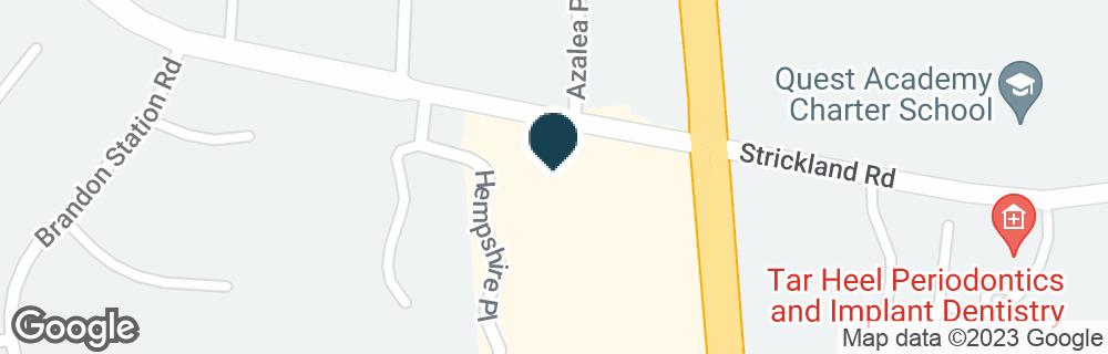 Google Map of8385 CREEDMOOR RD