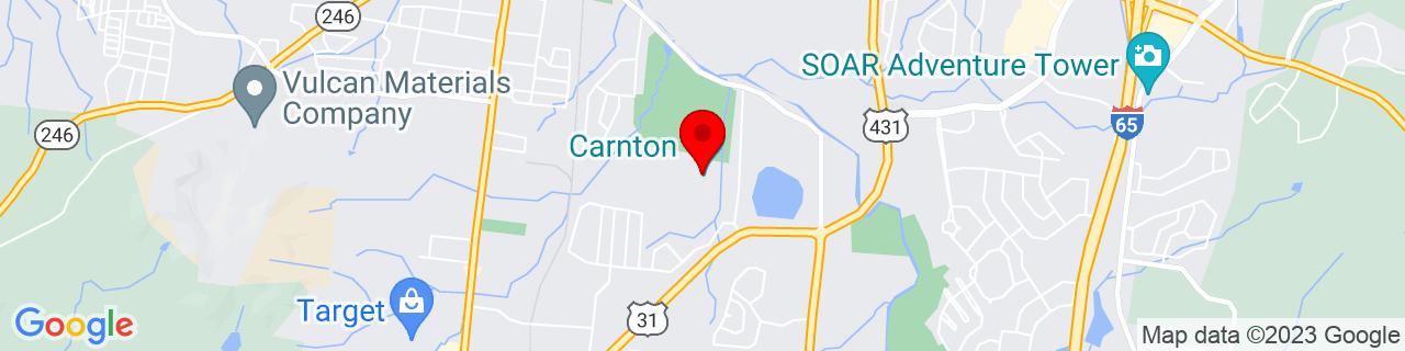 Google Map of 35.9030912, -86.8583981