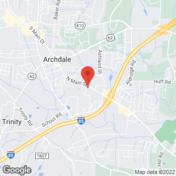 Map of State Employees' Credit Union at 10305 N Main St, Archdale, NC 27263