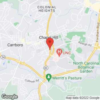 Map of State Employees' Credit Union at 310 Pittsboro St, Chapel Hill, NC 27516