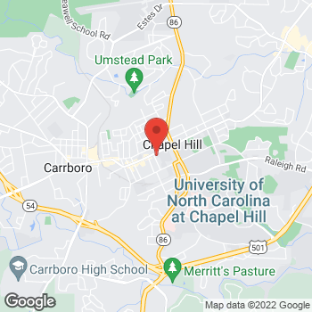 Map of Panera Bread at 213 W Franklin St, Chapel Hill, NC 27516