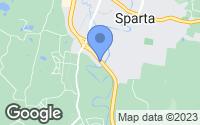 Map of Sparta, TN