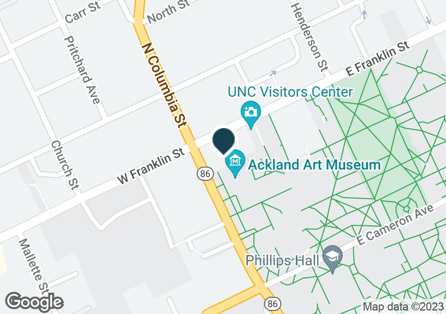Google Map of108 E FRANKLIN ST