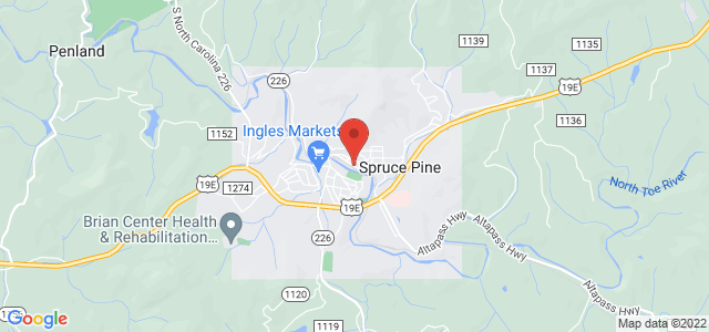 Spruce Pine Florist Map