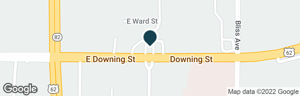 Google Map of1301 E DOWNING ST