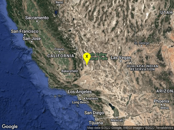 earthquake 18km E of Little Lake, CA