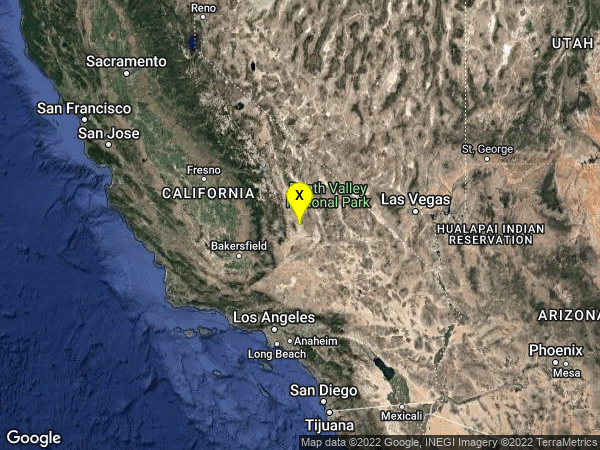 earthquake 20km E of Little Lake, CA