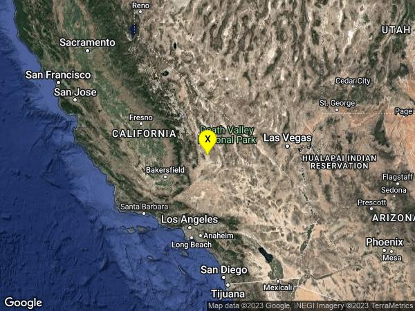 earthquake 19km E of Little Lake, CA