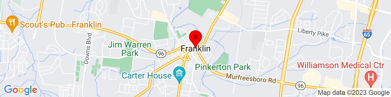Google Map of 35.9250637, -86.8688899