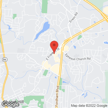 Map of Hollywood Feed Chapel Hill at 83 S. Elliot Road, Chapel Hill, NC 27514