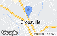 Map of Crossville, TN