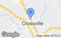 Map of Crossville, TN