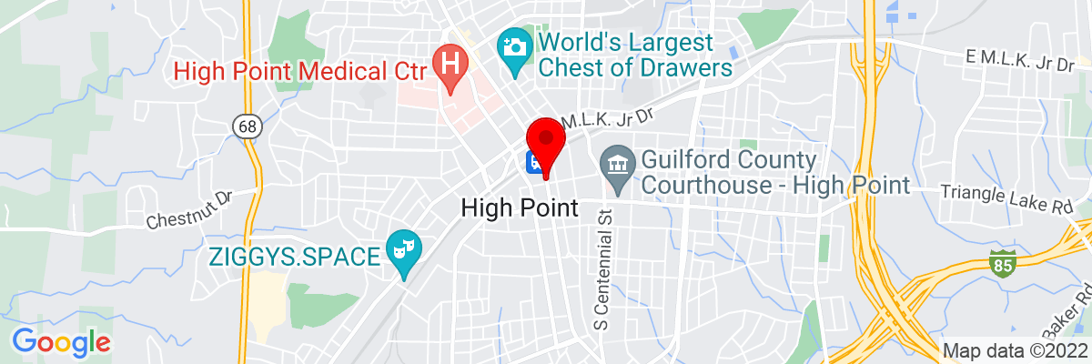 Google Map of 35.955692222222,-80.0053175