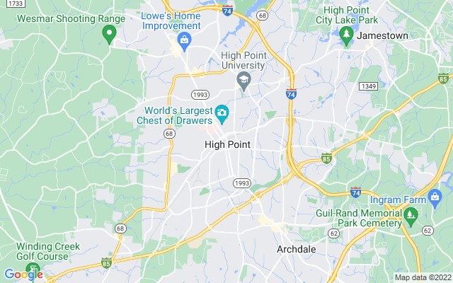 High Point on the map