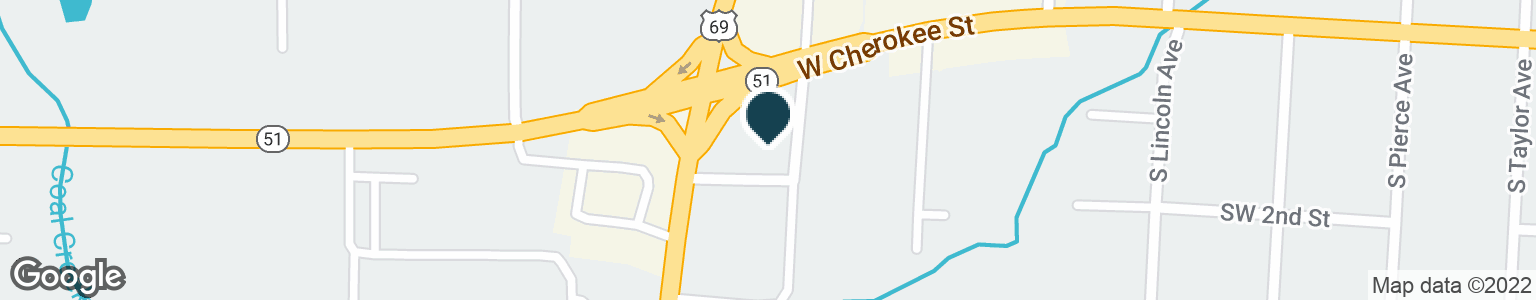 Google Map of1305 W CHEROKEE ST
