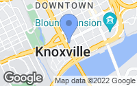 Map of Knoxville, TN
