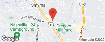 Map of 211 Commerce Dr in Smyrna