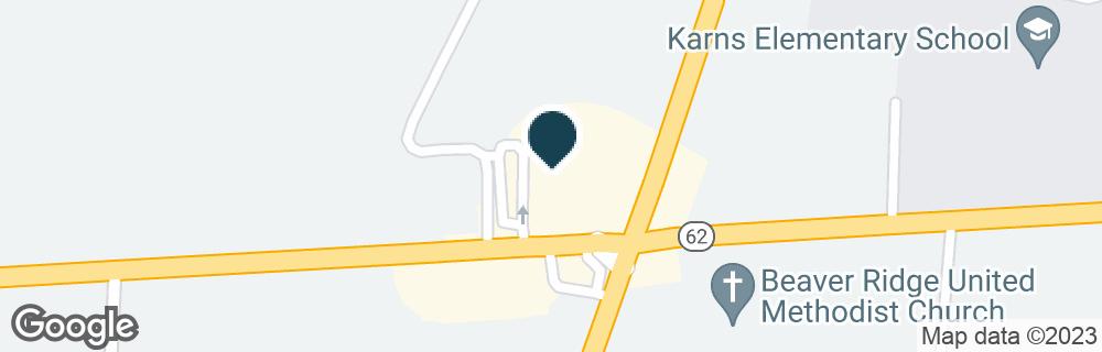Google Map of7810 OAK RIDGE HWY