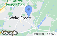 Map of Wake Forest, NC