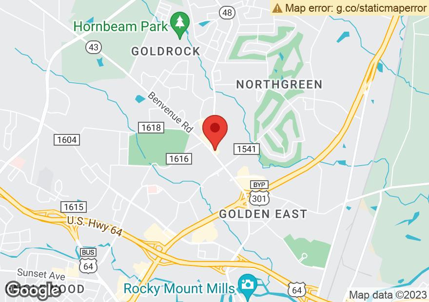 Google Map of 1590 BENVENUE RD