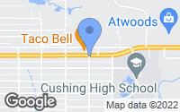 Map of Cushing, OK