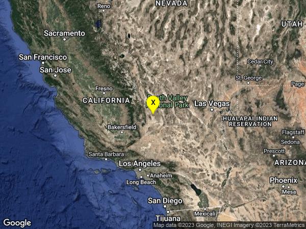 earthquake 21km ENE of Little Lake, CA