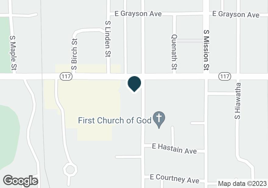 Google Map of950 E TAFT AVE